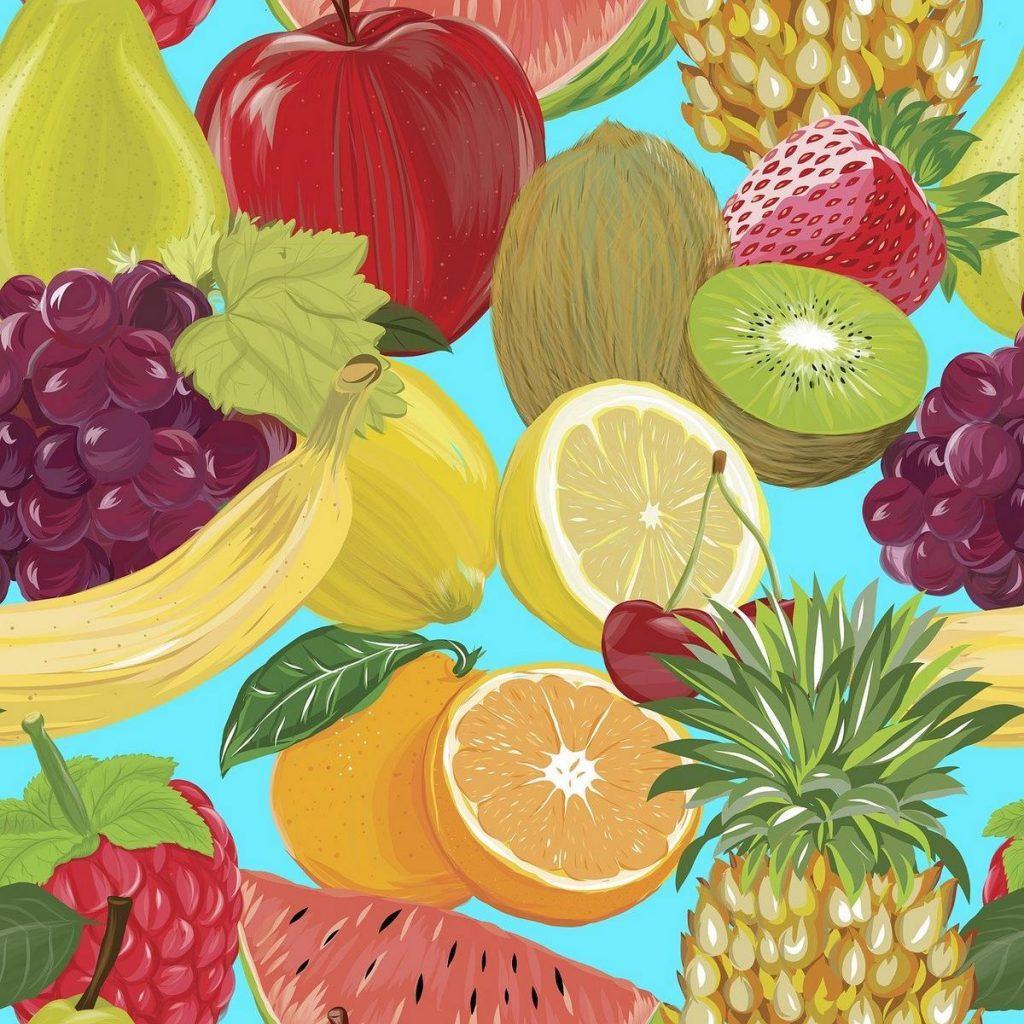 Soczyste owoce mogą być dobrym obrazem w jadalni.