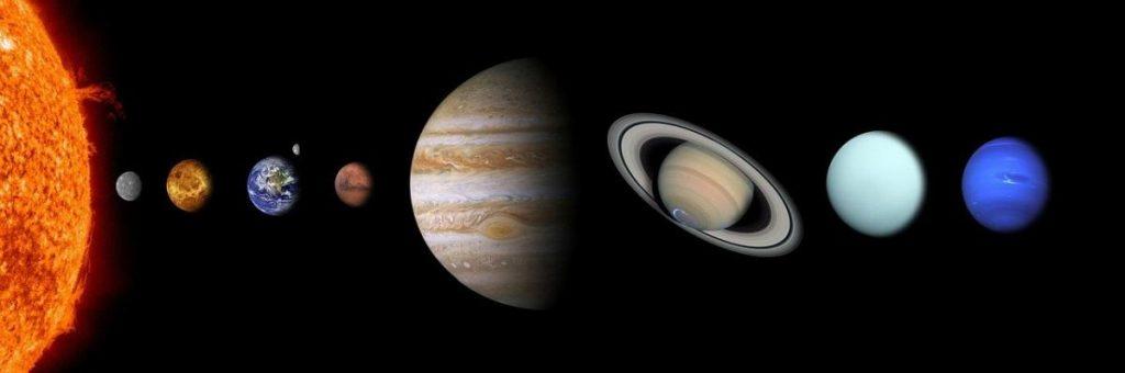 Układ solarny planet. Słońce
